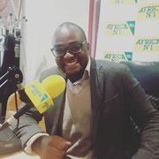 """11/05/18: Toujours au poste sur Africa numéro 1 dans """"Le grand débat""""."""