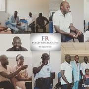 08/07/18. Forum de réflexion sociale avec l'équipe de Marseille pour préparer le forum d'inclusion sociale du 29/09/18 toujours à Marseille sur la responsabilité des parents dans l'éducation des enfants.