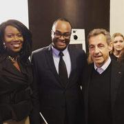 12/03/19: Gala de la fondation CENTAURE (accompagnement de personnes ayant reçu une greffe). Ici avec un ancien président de la république française, monsieur Nicolas Sarkozy