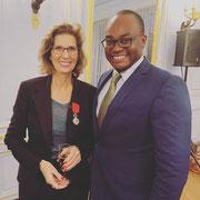 25/09/19: Ministère de l'éducation nationale - Avec Madame Pascale Boissonnet (Présidente de l'association Éveil), fraîchement décorée.