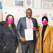 """09/10/20: Nomination d'Abel Boyi au conseil d'administration de """"Femmes sans frontières"""", structure qui travaille pour l'amélioration de la condition de la femme depuis plus de 30 ans"""