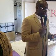 """Intervention d'Abel Boyi, Président de la plateforme """"FR - Les Forces Républicaines"""", lors du forum d'inclusion civique sur la citoyenneté de la femme le 15/10/17."""