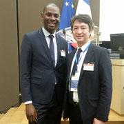 14/06/18: Assemblée nationale, le vice-président, monsieur Rudy Kazi, avec monsieur Sacha Lin-Jung co-Fondateur de l'AJCF et Responsable du pôle citoyen d'association des résidents chinois de France.