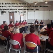 10/09/18: Le forum est en place. Les intervenant(e)s échangent avec les jeunes dans leurs modules respectifs 👍👍👍