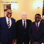 02/02/19: Abel Boyi avec messieurs Jacques Toubon, défenseur des droits et Sega Doucouré, président de CSD (Coopération-Solidarité-Développement) et candidat à l'élection législative dans la circonscription de Yélimané (Mali)