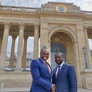18/07/19: Avec Patrice Anato, député LREM de la 3e circonscription de la Seine-Saint-Denis à l'assemblée nationale. Mise en place d'un partenariat solide.