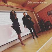 """11/03/19: Forum d'inclusion sociale FR """"Femme capable, femme gagnante"""", ici Mona Abel et Dorice Léopoldie, respectivement 1ère assistante de direction et secrétaire générale adjoint de la plateforme FR"""