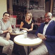 08/06/18: Avec mademoiselle Rose Ameziane et monsieur Malik Yettou. Un excellent moment de partage pour de belles choses en perspective à venir 😁