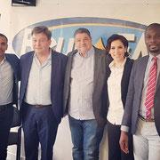 24/05/19: Rudy Kazi avec l'équipe de chroniqueurs du jour à Beur FM
