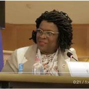 """Intervention de madame Lady Ngo Mang Épessé, secrétaire générale de la plateforme """"FR - Les Forces Républicaines"""" au parlement européen à Bruxelles sur la condition de la femme. Novembre 2017."""