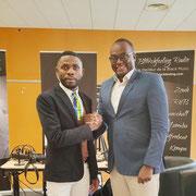 30/11/19: Abel Boyi au café littéraire lors des 6ème assises des luttes contre l'afrophobie et la négrophobie qui se sont tenues à Marseille. Avec l'essayiste Kevin Sima.