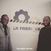 """20/03/18: Avec monsieur Sileymani Diakité, représentant du service jeunesse de la mairie de Longjumeau (91) à la """"Fabrique"""". Accord de partenariat avec la ville de Longjumeau pour la mise en place d'actions en faveur de la jeunesse."""