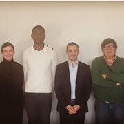 """Le 28/11/18 avec certains de nos partenaires (service jeunesse de la mairie de Joinville-le-Pont, l'association """"Boost ta réussite"""" et """"Bleau-Blanc-zèbre) pour la mise en place d'une action à venir en faveur de la jeunesse au pavillon Baltard."""