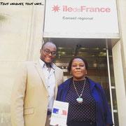 28/06/18: Au conseil régional Île-de-France (l'antenne du 7ème arrondissement de Paris) avec la conseillère régionale madame Mathy Kenya.