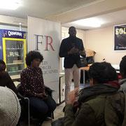 Lors de notre forum d'inclusion professionnelle sur la thématique de l'influence du lieu d'habitation sur la recherche d'emploi le 16/12/17 à Bagneux.