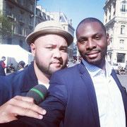 """19/04/19: Avec Raphaël Yem sur le tournage de l'émission """"Flashtalk"""""""