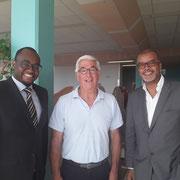 Avec monsieur Belin, directeur du centre EPIDE de Margny-lès-Compiègne et monsieur Daniel Robin, conseiller territorial Martinique venu spécialement nous soutenir pour l'occasion.