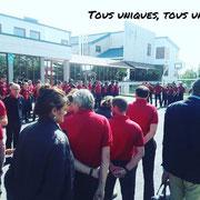 10/09/18: Rassemblement avec les jeunes pour la marseillaise et on attaque le forum.