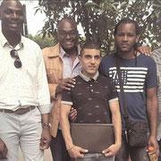 Échanges avec des jeunes à Clichy-la-Garenne le 02/08/17.