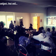 """04/05/18: Intervention vidéo de Sofyane Méhiaoui, international français de  basket-fauteuil lors de notre forum d'inclusion sociale ayant pour thème """"Une jeunesse devant la sensibilisation du handicap"""" à la """"Fabrique"""" à Longjumeau (91)."""