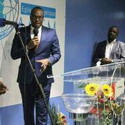 Intervention d'Abel Boyi lors de la conférence des jeunes de la structure ACEM. Octobre 2017.