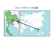 ナコーン・ラチャシーマ県位置図