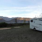 Übernachtungsplatz nach Leifers