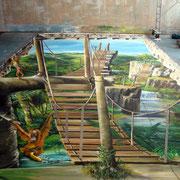 Ohne die Wandmalerei