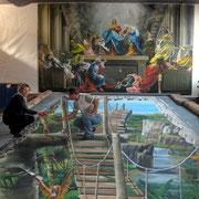 Unser erstes 3d Gemälde - hergestellt im Atelier Wosik