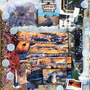 Territoire - Collage sur toile (38x46cm - 250) ©B.Dupuis