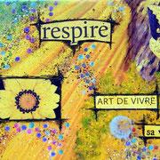 Chemin de Joie (détail) - collage sur toile, techniques mixtes. (38x46cm - 250€) ©B.Dupuis