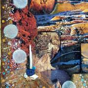 Territoire (détail) - Collage sur toile (38x46cm - 250) ©B.Dupuis