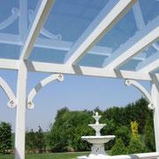 Leimholz Terrassendach mit Sicherheit-Glas Eindeckung