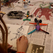 """comix in a leporellobook"" familyworkshop art school Copenhagen 2005"