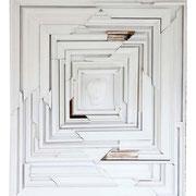"""""""Individuum"""" Assemblage auf Holz (114x97) 2005"""