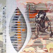 """""""Die Dinge sind nicht so wie sie scheinen"""" Mischtechnik auf Papier (21x15) 2014"""