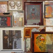 """""""Portrait""""Assemblage auf Holz (113x105) 2005"""