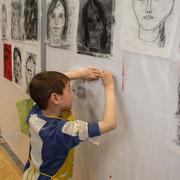 """portrait"" monotypeprint Kreamontschool 2013"