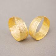 Ohrschmuck zum Einhängen in die Ohrmuschel, keine Ohrlöcher erforderlich, Silber feingoldplattiert