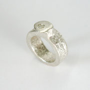 Feinsilberring aus 999,99er Silber mit Brillant TW vsi