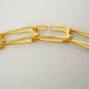 Collierdetail, Verschluss, Feingoldplattiertes Sterlingsilber