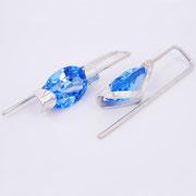 NEU: Ohrhänger, Silber mit synthetischen Spinellen