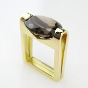 Ring, 750er Roségold mit braunem Rauchquarz