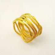 5er-Ring, 750er Gelbgold