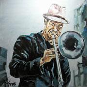 Jazz 1, Öl 100x100
