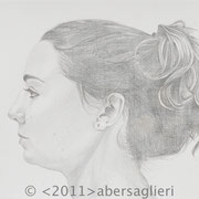 """Evy, 6""""x6"""", silverpoint on paper, 2011"""