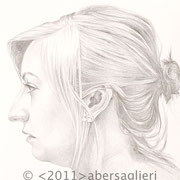 "Dana, 6""x6"", silverpoint on paper, 2011"