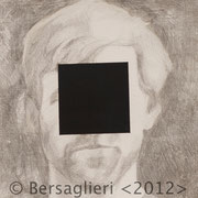 "Anonymous Kelly, 6"" x6"", silverpoint and acrylic on paper, 2012"