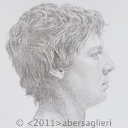 "Dash, 6""x6"", silverpoint on paper, 2011"