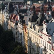 Les bâtiments colorés, vue du dessus